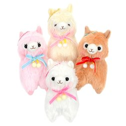 Alpacasso Pompom Velvet Ribbon Alpaca Plush Collection (Ball Chain)