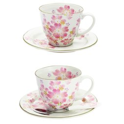 Hana Matsuri Mino Ware Cherry Blossom Coffee Cup & Saucer