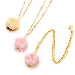 Q-pot. Sakura Monaka Necklace