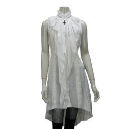 Ozz Croce Frilly Gauze Long Blouse