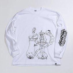 PARK Urahara Mari Line Drawing Long Sleeve T-Shirt