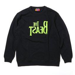 Radio Eva 538 The Beast Black x Green Big Sweater