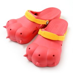 Akiba Sandals - Red x Yellow