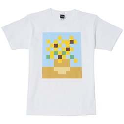 Sunflowers Pixel Masterpiece T-Shirt