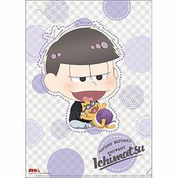 Osomatsu-san Knitting Wool Ichimatsu Clear File