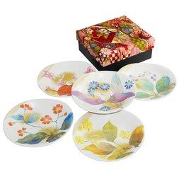 Hana Gasane Mino Ware Small Plate Gift Set