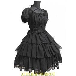 Atelier Pierrot Rose Lace Chiffon Dress