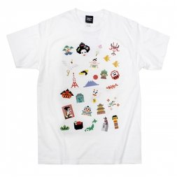 Pixel Japan White T-Shirt