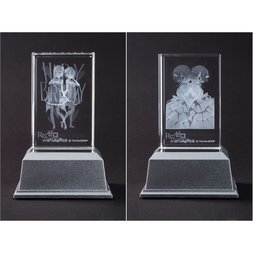 Re:Zero -Starting Life in Another World- Ram and Rem Memorial Crystal Art