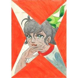 Akira Mochizuki Sign wa V! Original Framed Reproduction Art Print No. 3