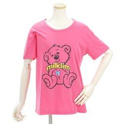 milklim Bear Print Ribbon T-Shirt
