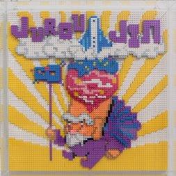 Nanoblock Shibuya Pixel Art Artist Works: Takeshi Murai Relief