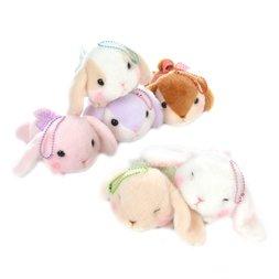 Pote Usa Loppy Gorone Hiyori Rabbit Plush Collection (Ball Chain)