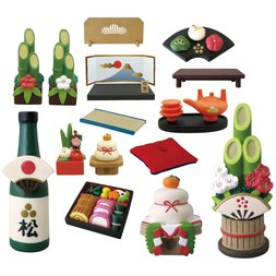 concombre New Year Decoration Diorama Collection