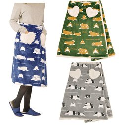 Nemu Nemu Animals Printed Wrap Skirt Blanket Series