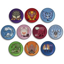 Monster Hunter: World Embroidered Pin Badge Collection Box Set