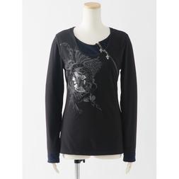 Ozz Croce Layered Zippered Print T-Shirt