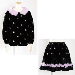 milklim Good Night Smock Blouse & Gathered Skirt Set