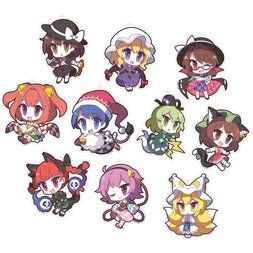 Touhou Project Yurutto Touhou Acrylic Keychain Collection