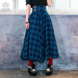LISTEN FLAVOR Maxi Skirt w/ Belt