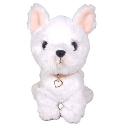 PUPS! Medium White Terrier Plush