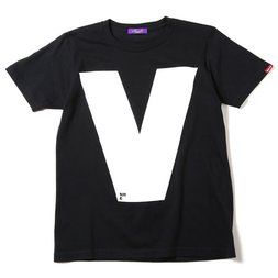 RADIO EVA 410 NERV Letter V Black T-Shirt