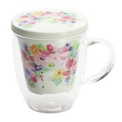 Hana Miyabi Covered Tea Strainer Mug