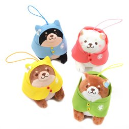 Chuken Mochi Shiba Rainy Day Stroll Mini Strap Plush Collection