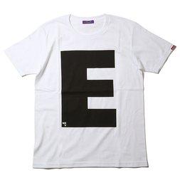 RADIO EVA 410 NERV Letter E White T-Shirt