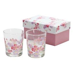 Hana Hitohira Flower Petals Rocks Glass Set