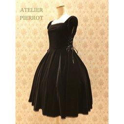 Atelier Pierrot Velour Double Lace-Up Dress