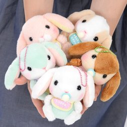 Pote Usa Loppy Baby Rabbit Plush Collection Vol. 2 (Ball Chain)
