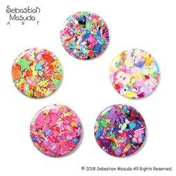 6%DOKIDOKI Sebastian Masuda Colorful Rebellion Seventh Nightmare Badge Collection