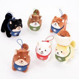 Chuken Mochi Shiba Standing Helper Plush Collection (Mini Strap)
