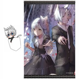 The Anime Man Tapestry & Keychain Charm Set