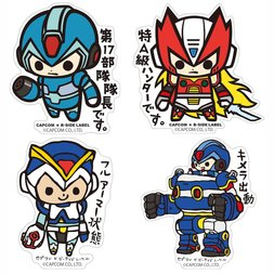 Capcom x B-Side Label Mega Man X Stickers