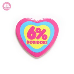 6%DOKIDOKI Logo Heart-Shaped Badge