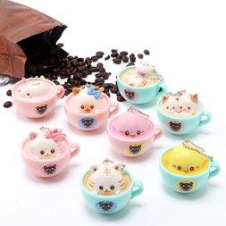 Latte Kitten Coffee Straps: Appearance of Latte Piyo