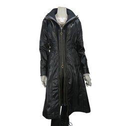 Rozen Kavalier Long Faux Leather Coat