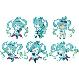 Racing Miku 2018 Ver. Nendoroid Plus Collectible Rubber Keychain Box Set