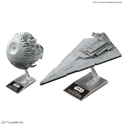 Star Wars 1/2700000 Scale Death Star II & 1/14500 Scale Star Destroyer