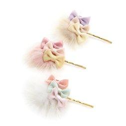 Le cocone Fur Ribbon Hair Pin