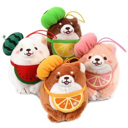 Chuken Mochi Shiba Fresh Fruit Plush Collection (Palm-Size)