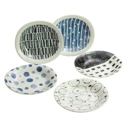 Waori Mino Ware Curry Plate 5-Piece Set