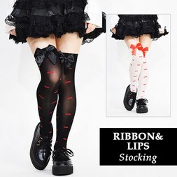 ACDC RAG Ribbon & Lips Stockings