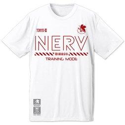 Evangelion NERV Training Quick Drying White T-Shirt