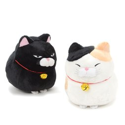 Hige Manjyu Kuromame Fuku Cat Plush Collection (Big)