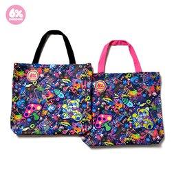6%DOKIDOKI Neon Spectrum Patch 2-Way Shoulder Bag