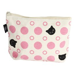 Polka Dots & Cats Pouch