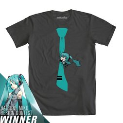 Hatsune Miku Hanging Around Charcoal T-Shirt